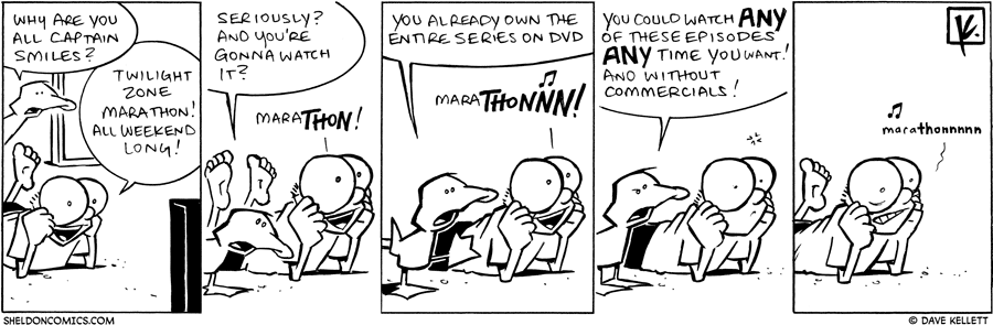 strip for November / 28 / 2009 - Why are you all captain smiles?