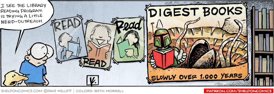 strip for December / 4 / 2009 - What is the library reading program trying to do?