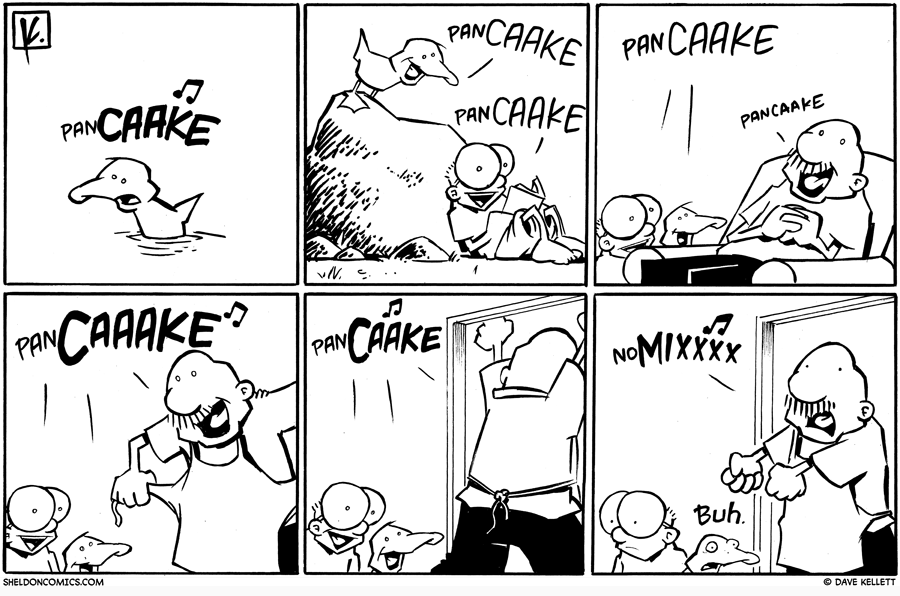 strip for December / 7 / 2009 - Arthur starts to sing and...