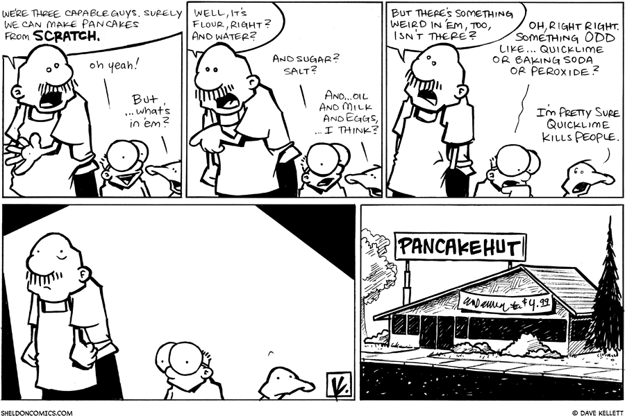 strip for December / 8 / 2009 - We can totally make pancakes from...
