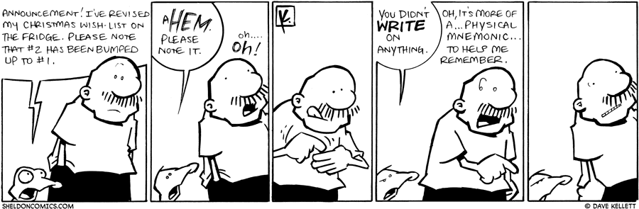 strip for December / 21 / 2009 - What announcement does Arthur make?