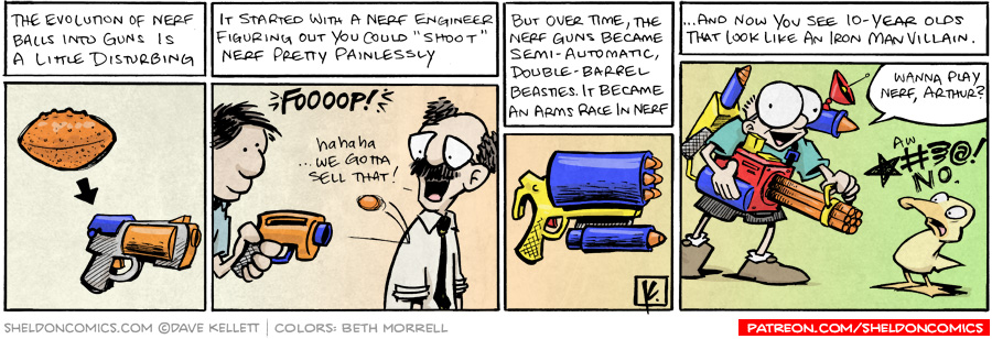 strip for December / 30 / 2009 - The evolution of nerf balls is...