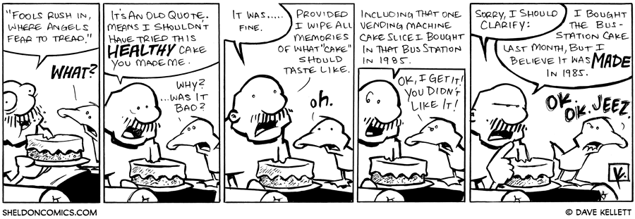 strip for January / 11 / 2010 - What does Gramp think of the cake?