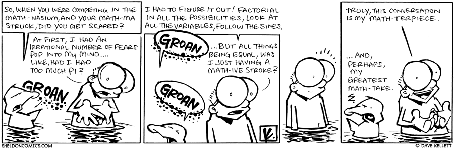strip for January / 19 / 2010 - What happened when Sheldon competed in the math-nasium?