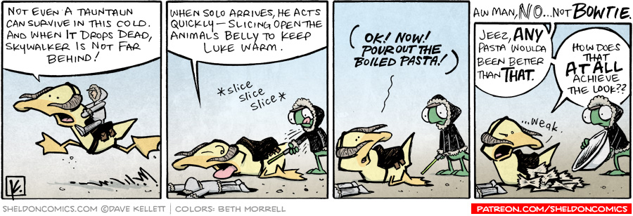strip for January / 28 / 2010 - Arthur plays a tauntaun and...