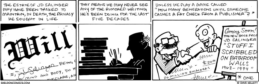 strip for February / 1 / 2010 - JD Salinger may...