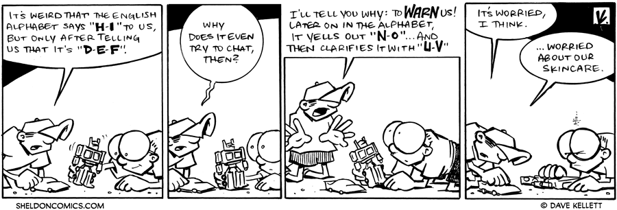 strip for February / 12 / 2010 - What are Dante's thoughts about the alphabet?