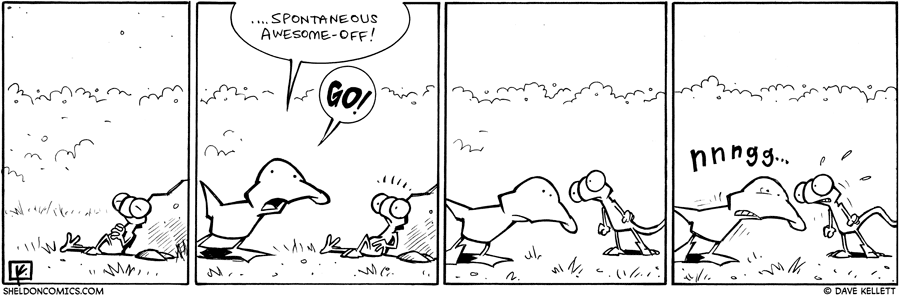 strip for February / 17 / 2010 - Flaco rests on a rock and...