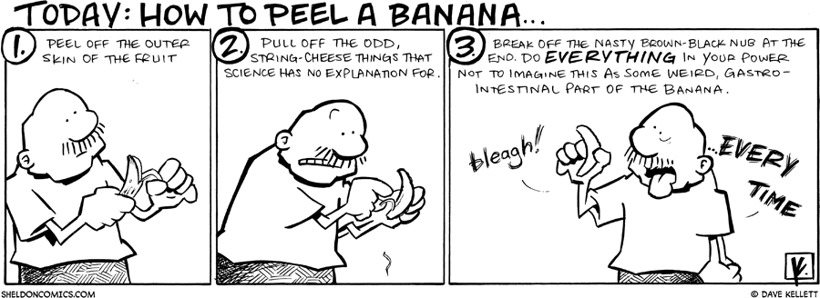 strip for February / 22 / 2010 - How do you peel a banana?