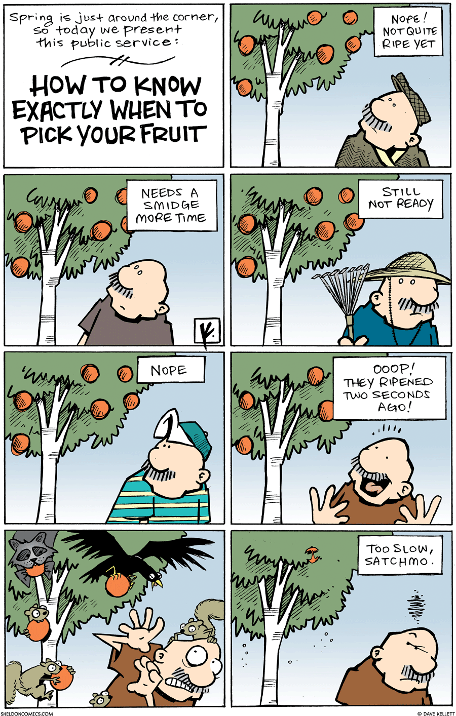 strip for March / 7 / 2010 - How to know when exactly to pick your fruit...