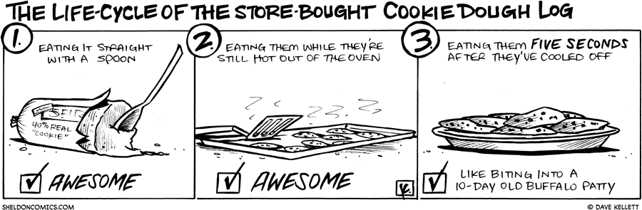 strip for March / 10 / 2010 - What is the life-cycle of the store-bought cookie dough log?