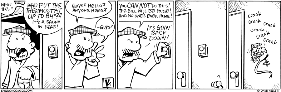 strip for March / 22 / 2010 - Who put the thermostat up to 84 degrees?