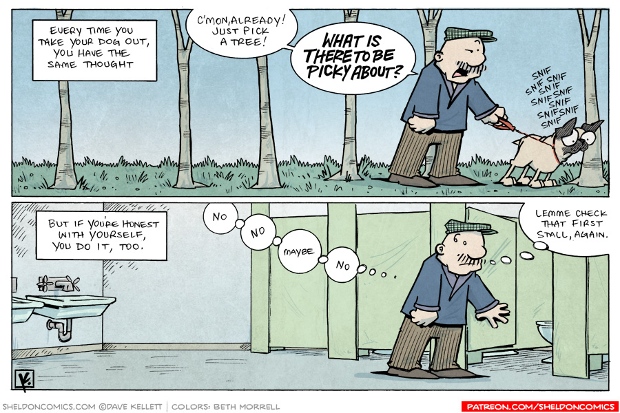 strip for March / 28 / 2010 - What same thought do you have every time you take your dog out?