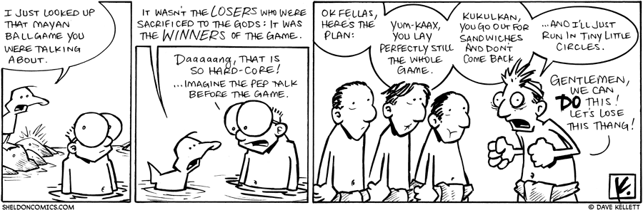 strip for April / 13 / 2010 - What did Arthur find out about the Mayan ballgame?