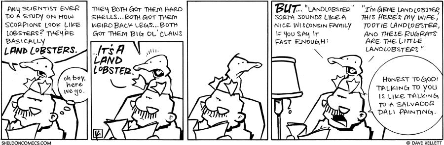 strip for April / 19 / 2010 - Any scientist ever do a study on how scorpions look like lobsters?