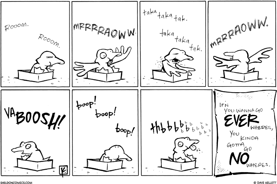 strip for June / 8 / 2010 - Arthur sits in a shoebox and...
