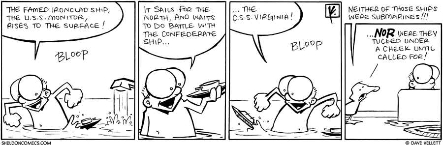 strip for June / 18 / 2010 - The famed ironclad ship did...
