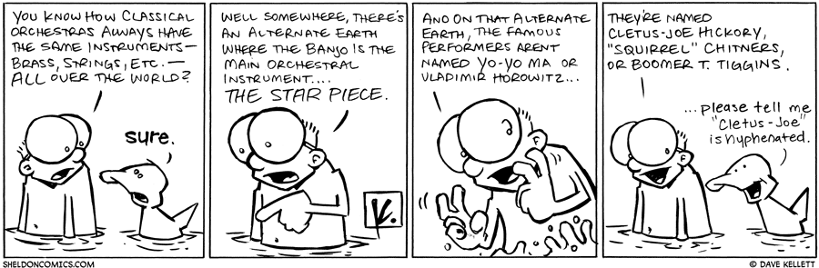 strip for June / 23 / 2010 - What does Sheldon tell Arthur about classical orchestras?