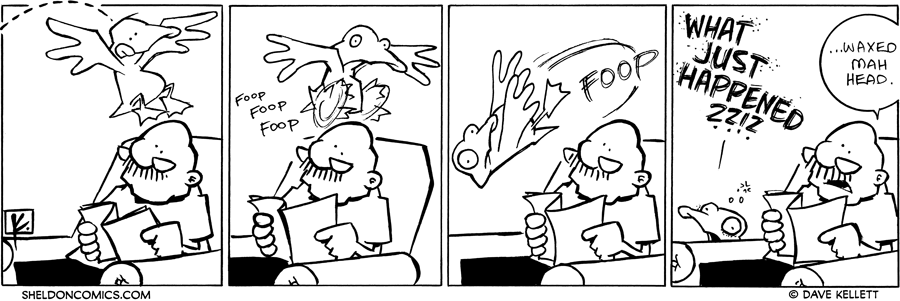 strip for June / 29 / 2010 - Arthur flies onto Gramp's head and...