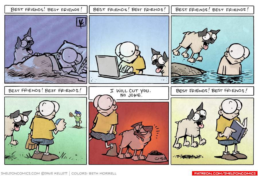 strip for June / 30 / 2010 - Best friends are...
