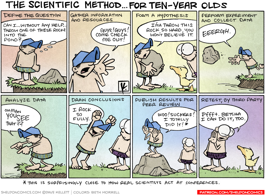 strip for August / 6 / 2010 - What is the scientific method for ten-year olds?