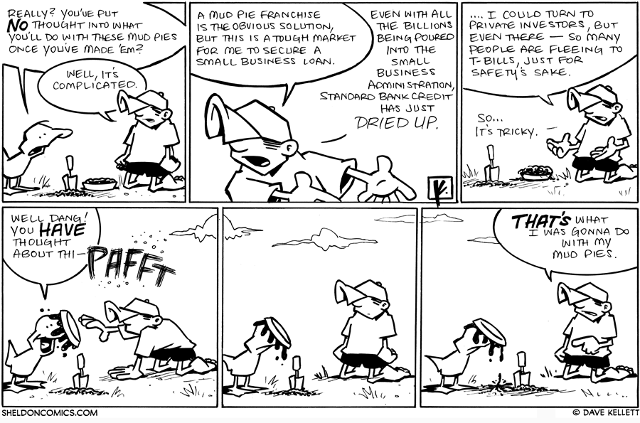 strip for August / 12 / 2010 - What are you going to do with these mud pies?