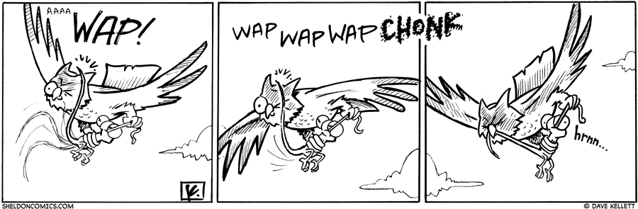 strip for September / 1 / 2010 - What does Flaco do in the owl's talons?