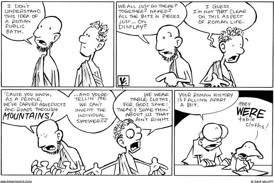 strip for September / 23 / 2010 - What is this Roman bath?