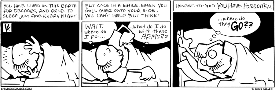 strip for October / 6 / 2010 - Gramp tries to go to sleep and...
