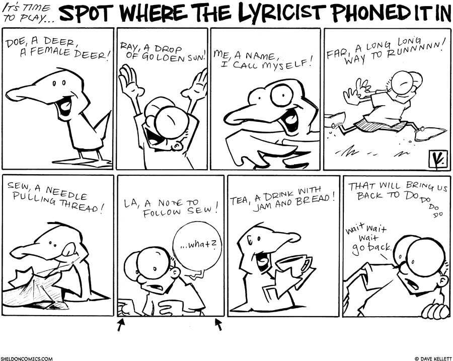 strip for October / 11 / 2010 - Where did the lyricist phone it in?