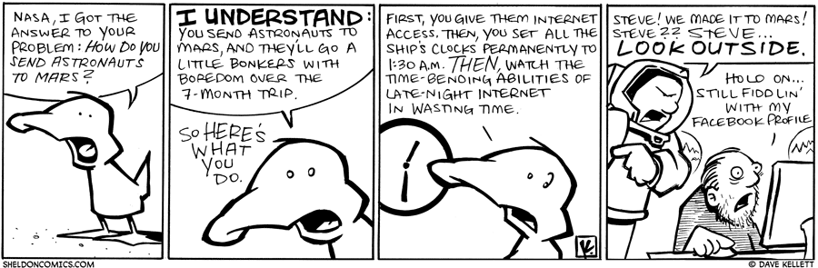 strip for October / 13 / 2010 - How do you send astronauts to Mars?