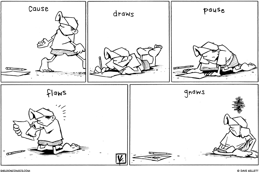 strip for October / 21 / 2010 - Dante's artistic process is...