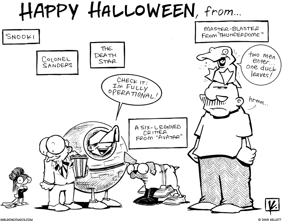strip for October / 29 / 2010 - Happy Halloween from...