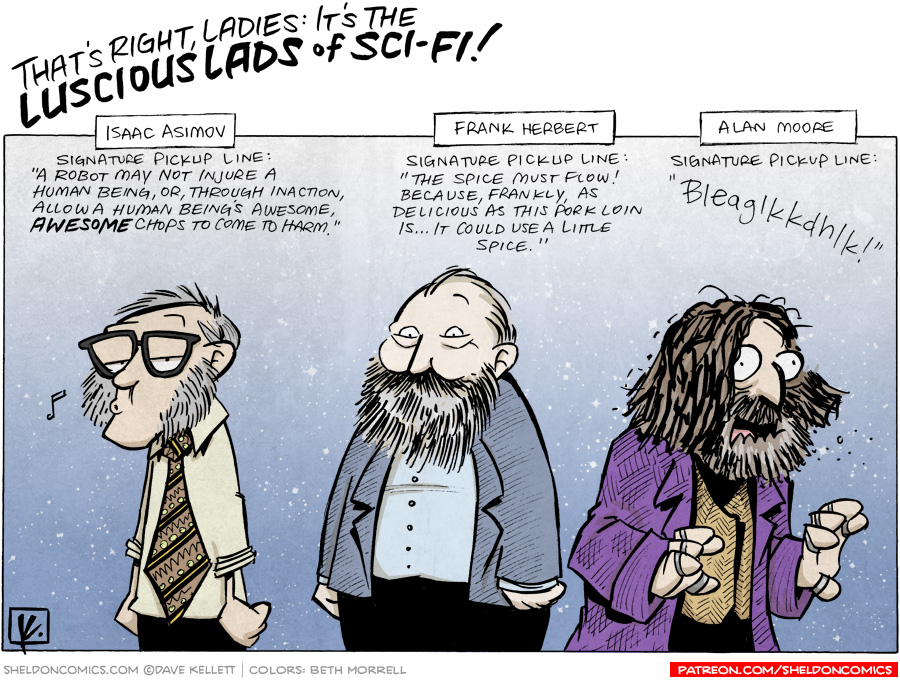 strip for November / 10 / 2010 - Who are the luscious lads of Sci-fi?