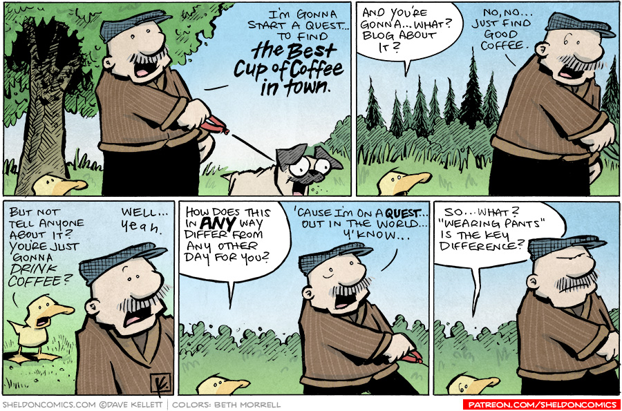 strip for November / 16 / 2010 - What quest does Gramps want to start?