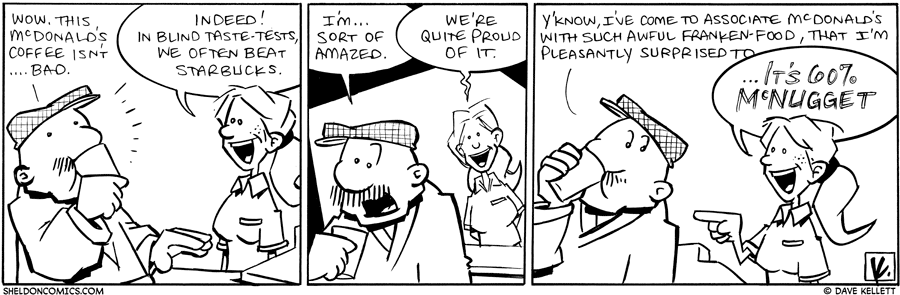 strip for November / 19 / 2010 - What coffee does Gramps discover?
