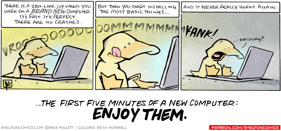 strip for November / 24 / 2010 - There is a zen-like joy when...