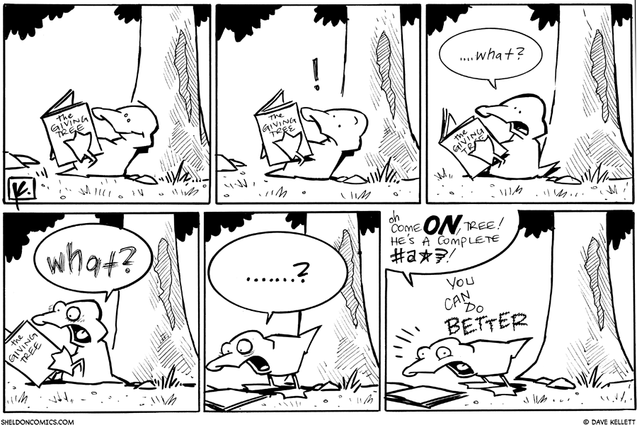 """strip for November / 29 / 2010 - What does Arthur think of """"The Giving Tree?"""""""
