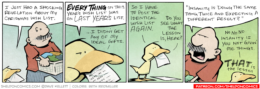 strip for December / 6 / 2010 - What does Arthur realize about his wish list?