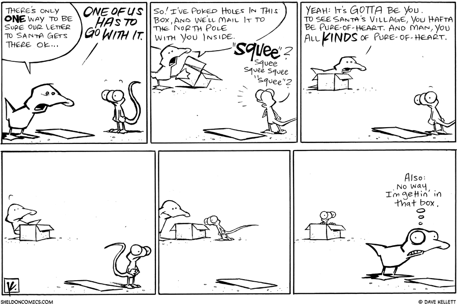 strip for December / 8 / 2010 - What is the one way they'll know their letter gets to Santa?
