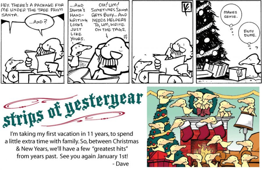 strip for December / 25 / 2010 - There's a package for me under the tree from...