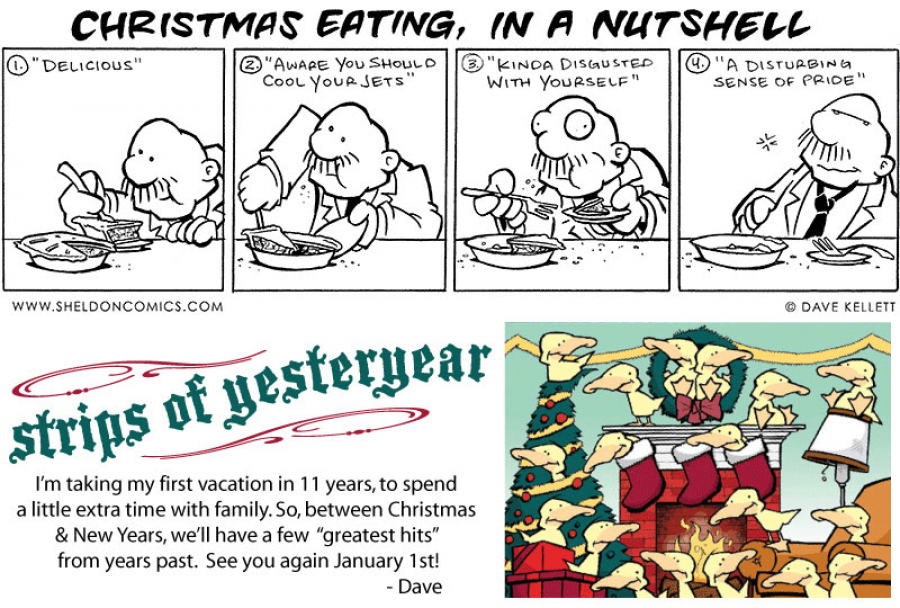 strip for December / 28 / 2010 - How do you explain Christmas eating?