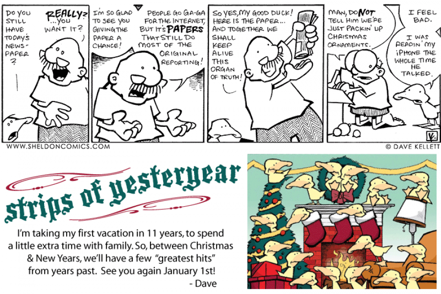 strip for December / 30 / 2010 - Do you still have today's newspaper?