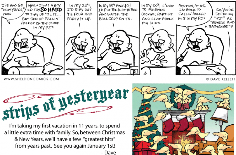 strip for December / 31 / 2010 - What does Gramps say about New Years?