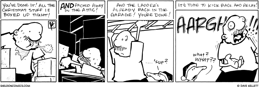 strip for January / 10 / 2011 - Gramp has boxed up...