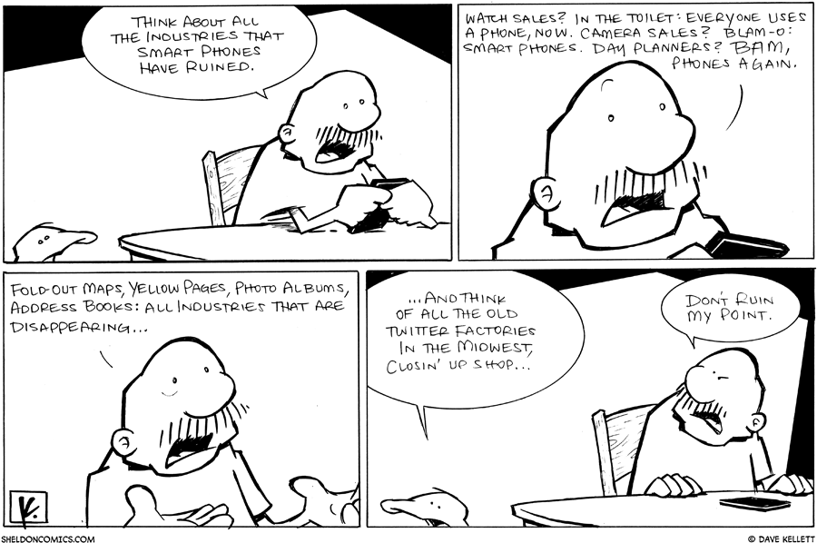strip for January / 12 / 2011 - What are the industries smart phones have ruined?
