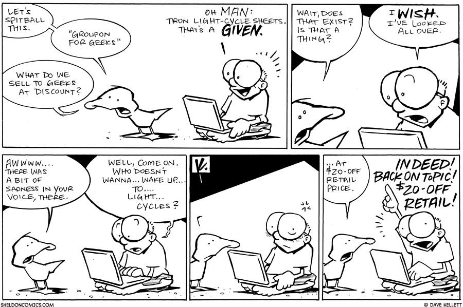 strip for January / 14 / 2011 - What do we sell to geeks at discount?