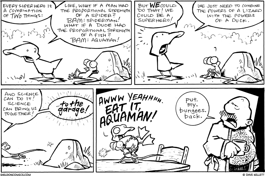 strip for January / 20 / 2011 - Every superhero is a combination of...