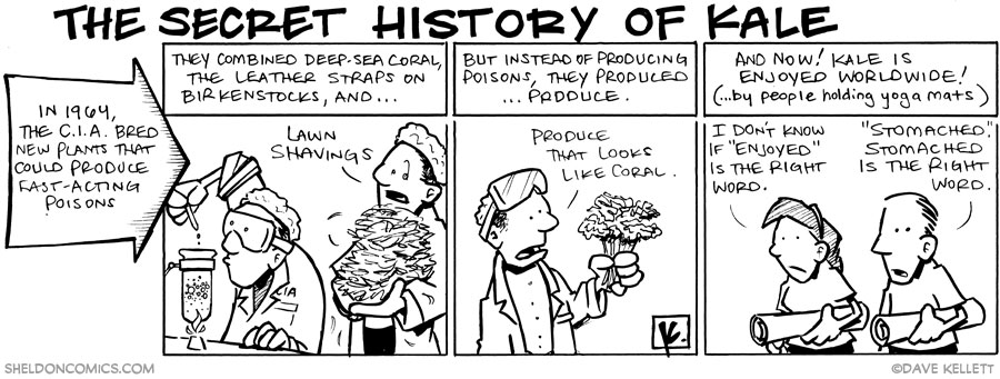 strip for January / 28 / 2011 - The secret history of Kale is...