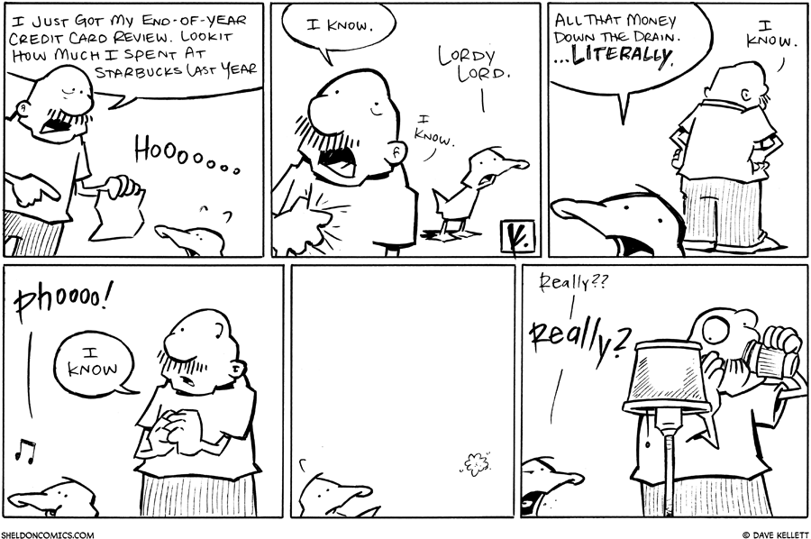 strip for January / 31 / 2011 - How much did Gramps spend at Starbucks last year?